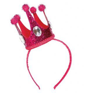 Diadema mini corona rosa