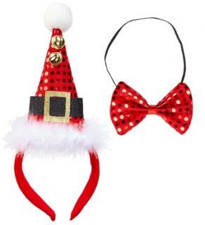 Mini sombrero Papá Noel con cascabeles