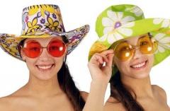 Gafas redondas grandes de hippy