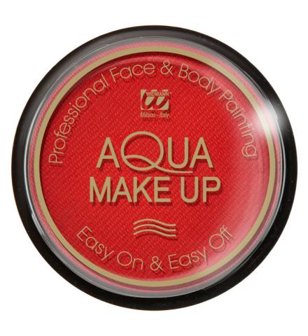 Tarro maquillaje al agua en rojo 15 Gr.