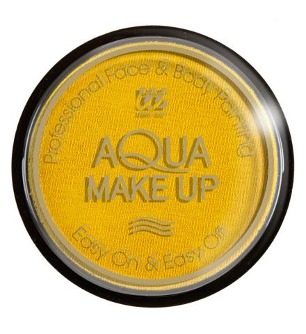 Tarro maquillaje al agua amarillo 15Gr.