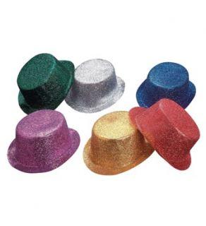 Sombrero chistera escarcha colores