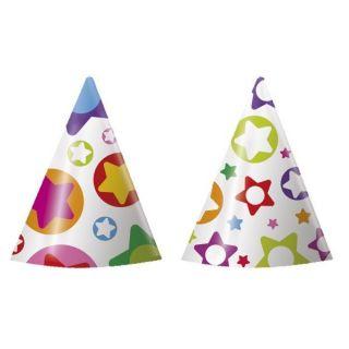 Gorrito cartón estrellas y puntos