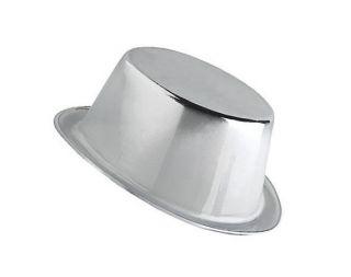 Sombrero chistera plateada