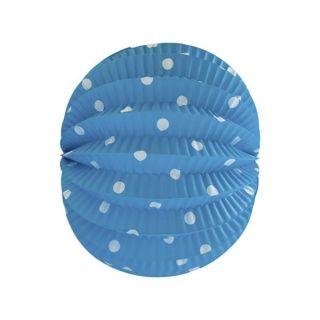 imagen Farolillo azul con lunares en blanco