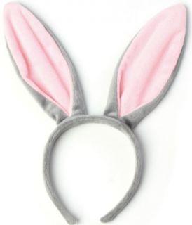 Diadema orejas de conejo o burro en gris