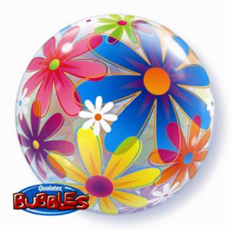 Globo bubble flores fantasia