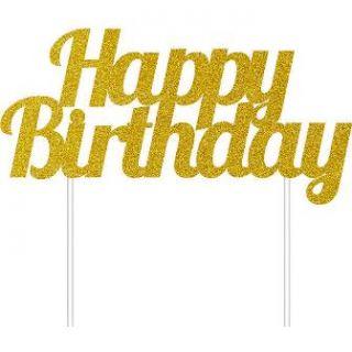 imagen Decoración para pastel Happy Birthday