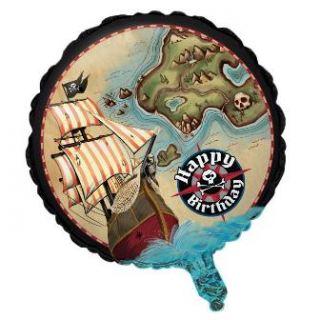 Globo foil piratas con mapa