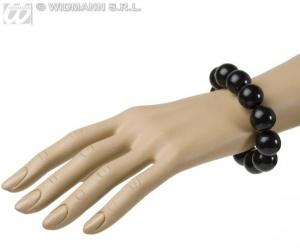 imagen Pulsera de bolas negras
