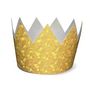 Coronas doradas holograficas