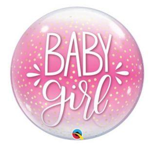 Globo bubble baby girl