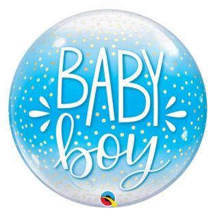 Globo bubble baby boy