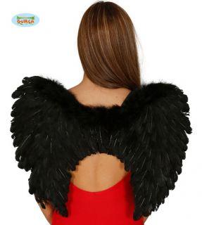 Alas con plumas en negro