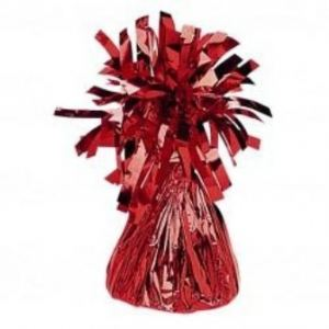 Peso de globos rojo