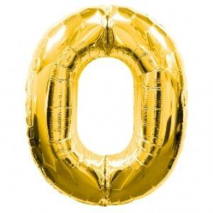 Globo foil nº0 dorado