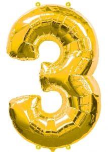 Globo foil nº3 dorado