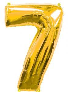 Globo foil nº7 dorado