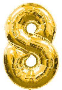 Globo foil nº8 dorado