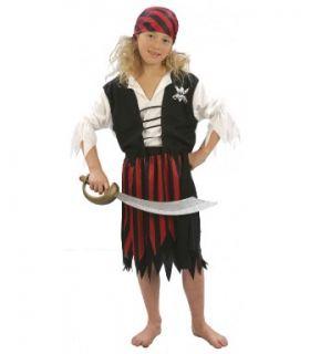 Disfraz de pirata roja niña