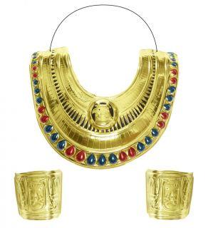 Collar y brazalete egipcio