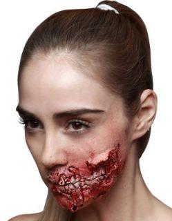 Herida de látex boca desgarrada
