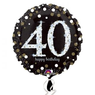 Globo foil happy birthday nº40