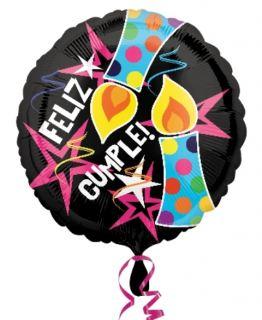 Globo foil Feliz Cumpleaños velas