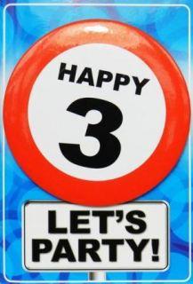 Tarjeta de cumpleaños con chapa happy 3