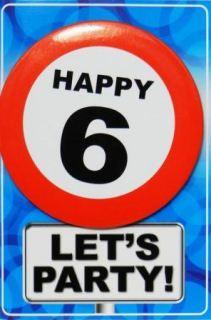 Tarjeta de cumpleaños con chapa happy 6