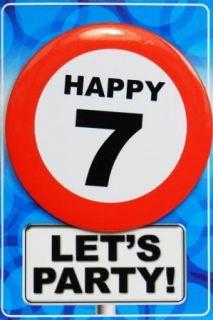 Tarjeta de cumpleaños con chapa happy 7