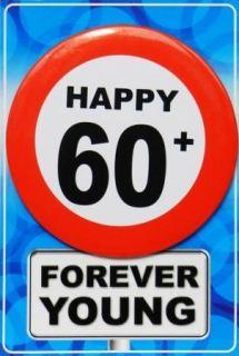 imagen Tarjeta de cumpleaños con chapa happy 60