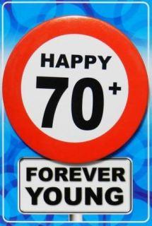 imagen Tarjeta de cumpleaños con chapa happy 70