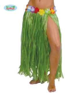 Falda hawaiana con flores 75cm