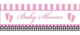 imagen Banner baby shower pink