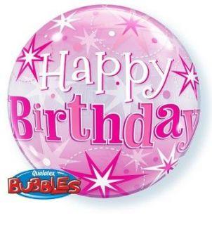 Globo bubble happy birthday rosa