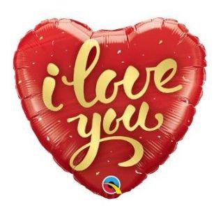 Globo foil corazón I love you