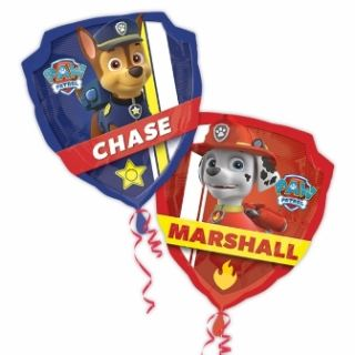 Globo foil patrulla canina Chase y Marshall