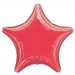 Globo jumbo estrella rojo 32