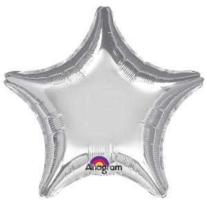 Globo jumbo estrella plata 32