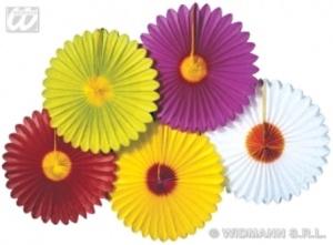 Farol abanico flores