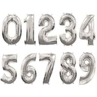Globo números plata 66cm