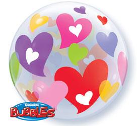 Globo bubble corazones de colores