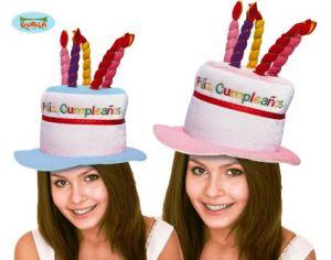 Sombrero tarta feliz cumpleaños