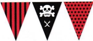 imagen Guirnalda triangular pirata