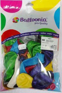Paquete de 50 globos metalizados