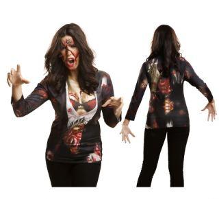 Camiseta disfraz zombie girl
