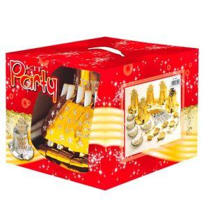 kit cotillón Feliz año nuevo dorado