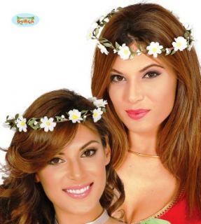 Corona flores blancas