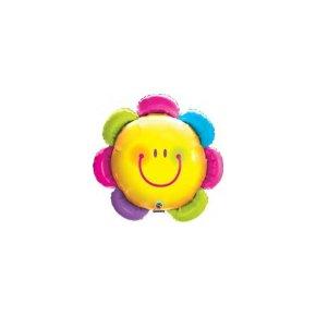 Globo foil flor sonriente